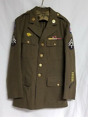 Original WWII US Army Anti Aircraft, Pacific Ocean Areas Service Coat