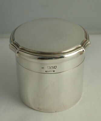 George V Solid Silver Tea Caddy Cannister - 119g - London 1915