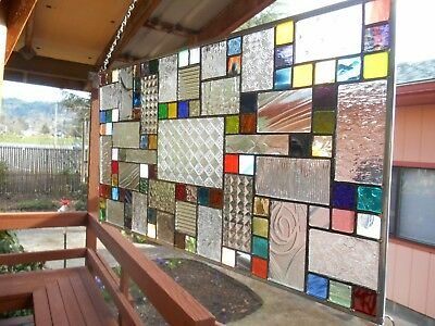 Multi Colored Stained Glass Panel Window 40+ colors