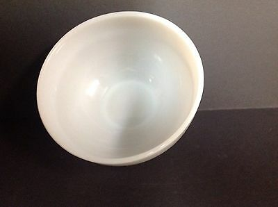 """Vintage Anchor Hocking Fire King White Glass Banded 6"""" Bowl"""