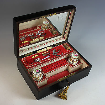 Antique French Sewing & Vanity Travel Box, Casket, Napoleon III