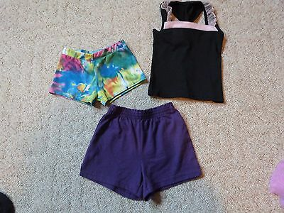 Butterfly Treasures girls lot of dancewear top and bottoms size Small EUC