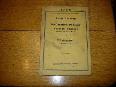 Vintage Farmall/McCormick-Deering F12, F20, F30 & Fairway Tractor Parts Catalog