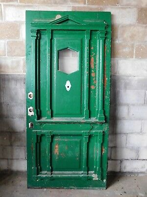 Antique Victorian Eastlake Style Entry Door - 1870 Fir Architectural Salvage