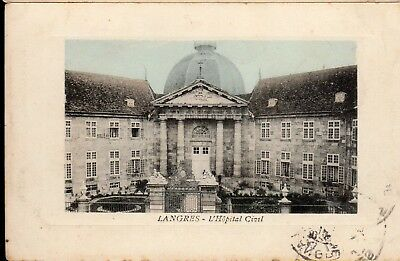 Cpa France 1914 - Langres, L'hopital Civil -