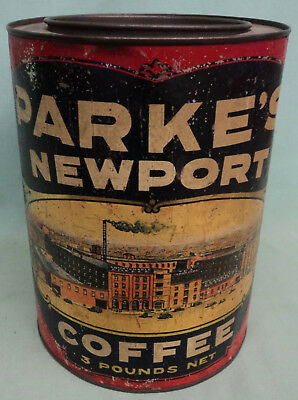 Vintage Parke's Newport Coffee 3# L.H. Parke Co. Philadelphia Pittsburgh