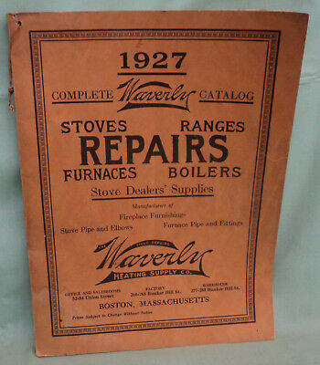 Vintage Waverly Stove Ranges Furnaces Boilers Parts Catalog 1927 Boston MASS