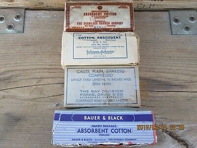 20L100%Orig WWII WW2 Bandage Lot For Army USMC First Aid Medic Bag Pouch