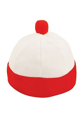 Boys Childs Red White Hat  Book Day Fancy Dress Costume Outfit 5-12