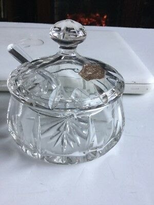 Cristal Au Plomb Echt Bleikristall Sugar Bowl With Lid And Spoon