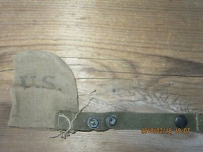 21L100%Orig WWII WW2 M1 Garand 1903 M1 Carbine Muzzle Cover Pouch D-Day 1944