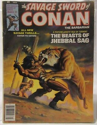 The Savage Sword Of Conan The Barbarian #27 March 1978