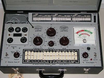 Museum Quality Jackson 658 Mutual Conductance Tube Tester - Calibrated