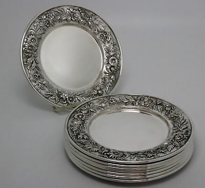 S. Kirk & Son Sterling Silver Repousse Plates