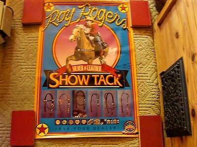 """Vintage Roy Rogers Show Tack Poster Quality Litho 35""""x24"""" Silver& Leather No Res"""