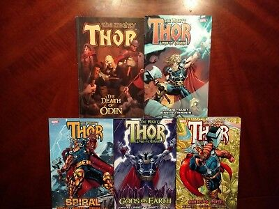 Thor tpb lot collects 39-79 by Jurgens Death Odin Spiral Gods on Earth vol 3