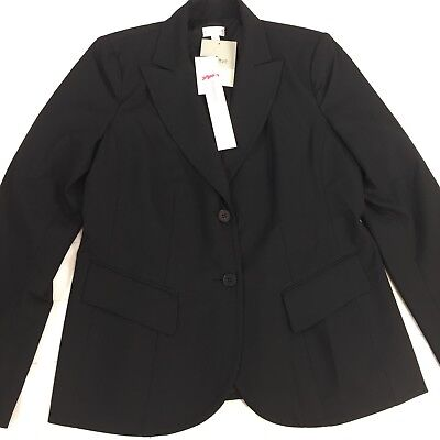 NEW - A PEA IN THE POD - Black MATERNITY BLAZER Suit Top Jacket SMALL (S) $128