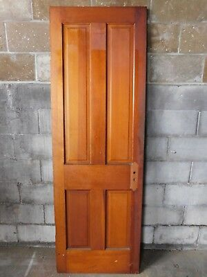 Antique Victorian Interior Four Panel Door - C. 1890 Fir Architectural Salvage