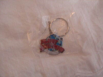 Vintage Planet Hollywood Orlando Enamel Cloisonne Key Chain Ring, New / Mint