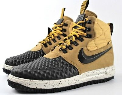 376521be3185 NIKE LUNAR FORCE 1 Duckboot 17 Boots New Mens Winter Hiking 916682 ...