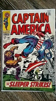 Captain America #102 (1968) Red Skull! The Sleeper!  Silver Age! PRICED TO SELL!