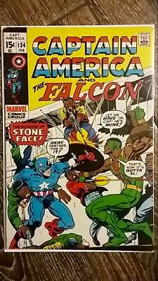 Captain America #134 (1971) Early Falcon Appearance! Nice Copy!  PRICED TO SELL!