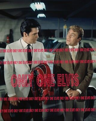 """1968 ELVIS PRESLEY in the MOVIES """"SPEEDWAY"""" Set PHOTO with BILL BIXBY Exclusive"""