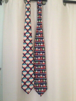 2 Southpark Ties from the TV show - Great Conditon