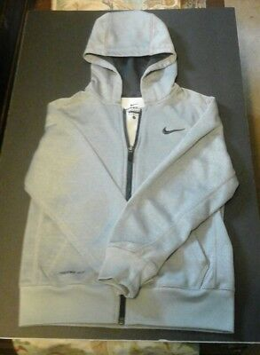 Nike Therma-Fit Gray & Black Hoodie Child  Youth Small