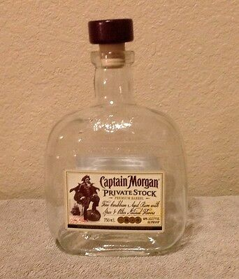 Captain Morgan Private Stock 750Ml With Cap ~ Empty