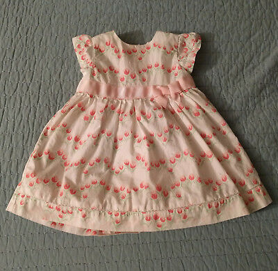 Janie and Jack baby girl floral dress, size 3-6 months
