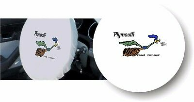 WHITE 100% Micro Fiber PLYMOUTH ROAD RUNNER Stretchable Steering Wheel Cover