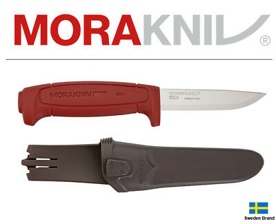 Morakniv Fixed Blade Knife Basic 511 Dark Red Carbon Steel With Sheath 01502