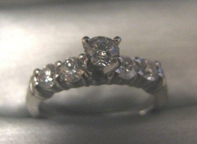 Platinum  Diamond  Engagement Ring 1.00TCW $5000 Appraisal Included