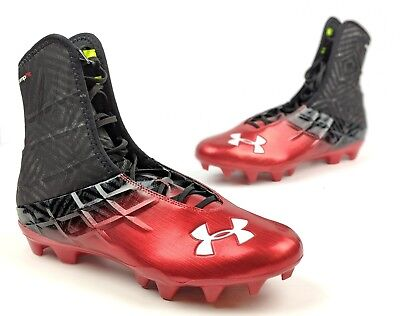Under Armour HIGHLIGHT MC Mens Football Shoe Red Black Compfit size: 14