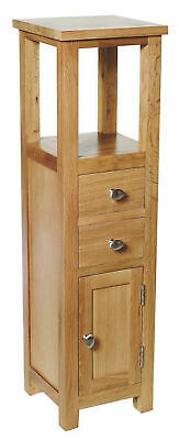 Oak Hallway Side Table Telephone Lamp Plant Stand Bedside Unit Small Cabinet NEW