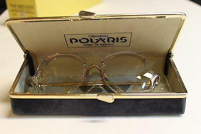 Vintage Women`s Polaris Prescription Rimless Glasses With Case & Brochure Sweden