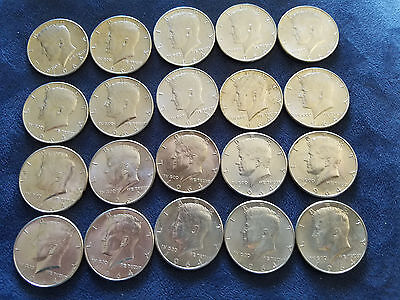 Full (1) Roll (20) 1964 P 90% Silver Kennedy Half Dollars $10 Face Value  50 C