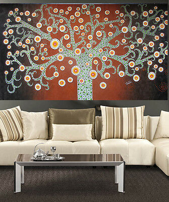 huge Art Painting Authentic  tree of life flower Abstract by Jane Crawford
