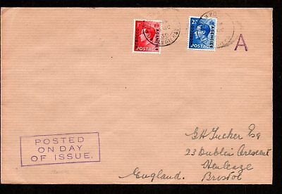 Morocco Agencies 1936 FIRST DAY COVER to BRISTOL, ENGLAND