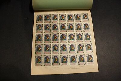 VERY RARE India Pakistan TB Christmas Seal 1952-1953 PROOF Booklet, 11 Sheets