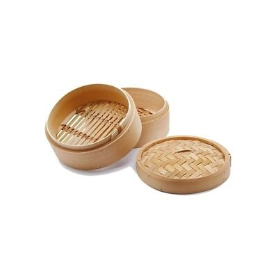 HOME STEAM COOKERS STEAMER Wooden of Bamboo 23cm 2Piani 8259500