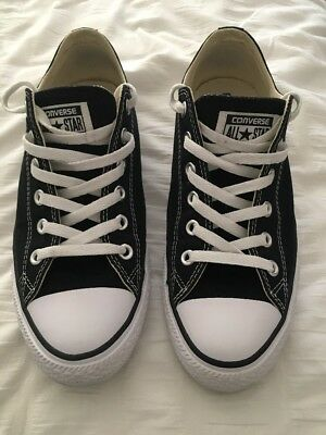 LIKE NEW Converse Chuck Taylor All Star Low Sneakers/Shoes - Black Size M8/W10