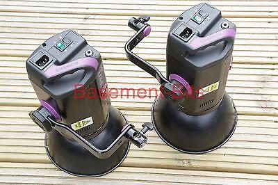 Two (2) Bowens Esprit 250 flash lamp head BW 1070 reflectors mounting arms #2