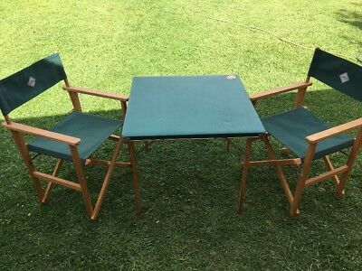 Sou Wester Steamer Chairs And Table - Outdoor/camping