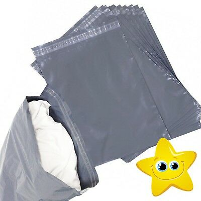 """6"""" x 9"""" STRONG POLY MAILING POSTAGE POSTAL QUALITY SELF SEAL GREY MAILING BAGS"""