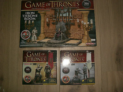 Game of Thrones Bauset Construction Set alle 3 Stück im Set McFarlane Toys HBO