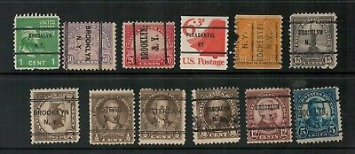 Lot 4797 - USA - Selection of 12 New York State Pre-cancels from various years
