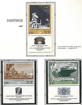 1977 Paintings with Tabs  MUH/MNH  As Issued