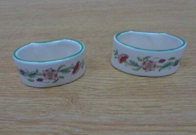 Minton China Haddon Hall Napkin Rings x2  Pair Tableware